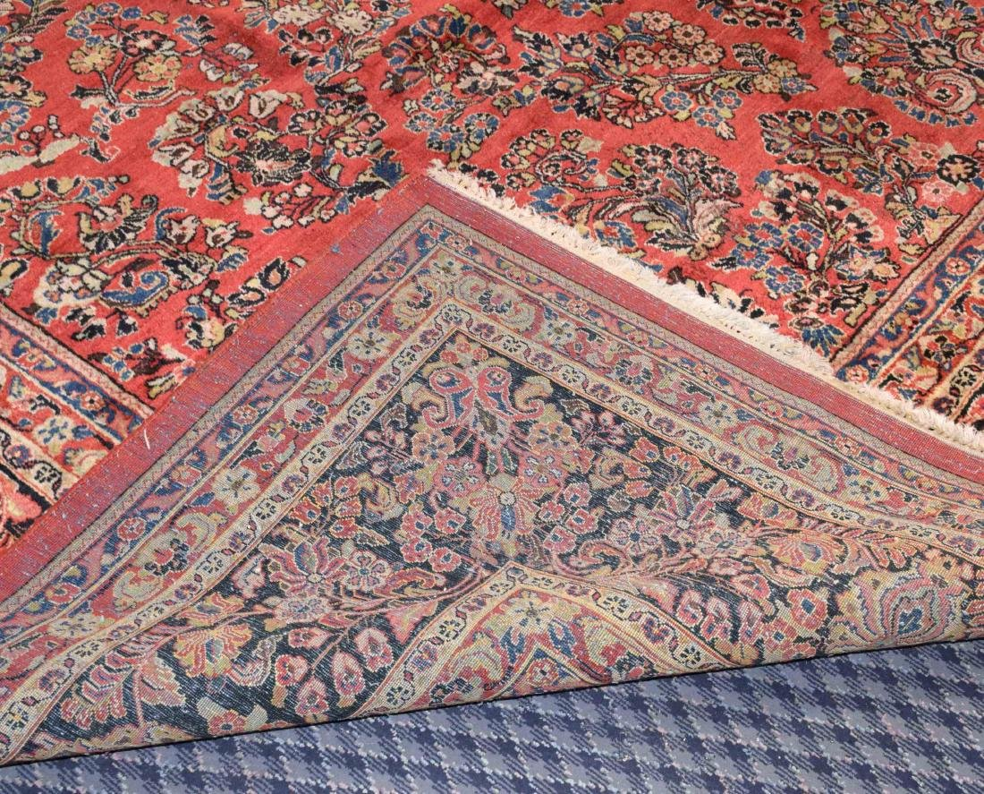 ANTIQUE PERSIAN SAROUK RUG IN MANDARIN COLOR. 15'9'' X - 6