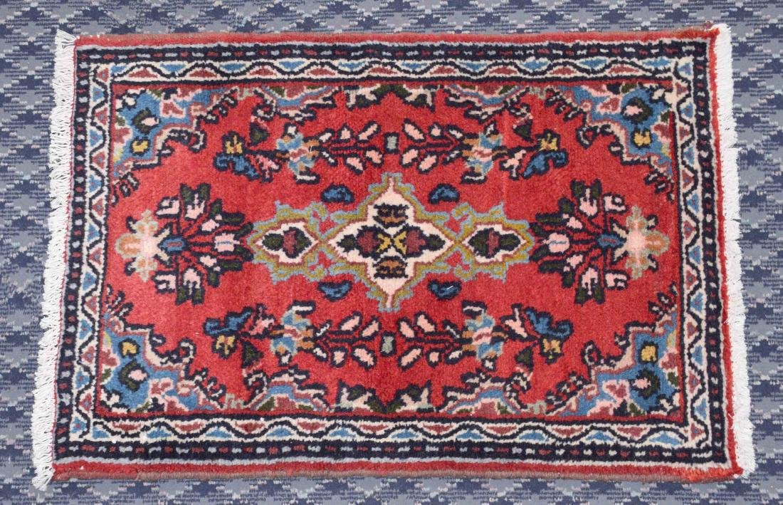 SEMI ANTIQUE PERSIAN. 2'8'' X 1'10''.