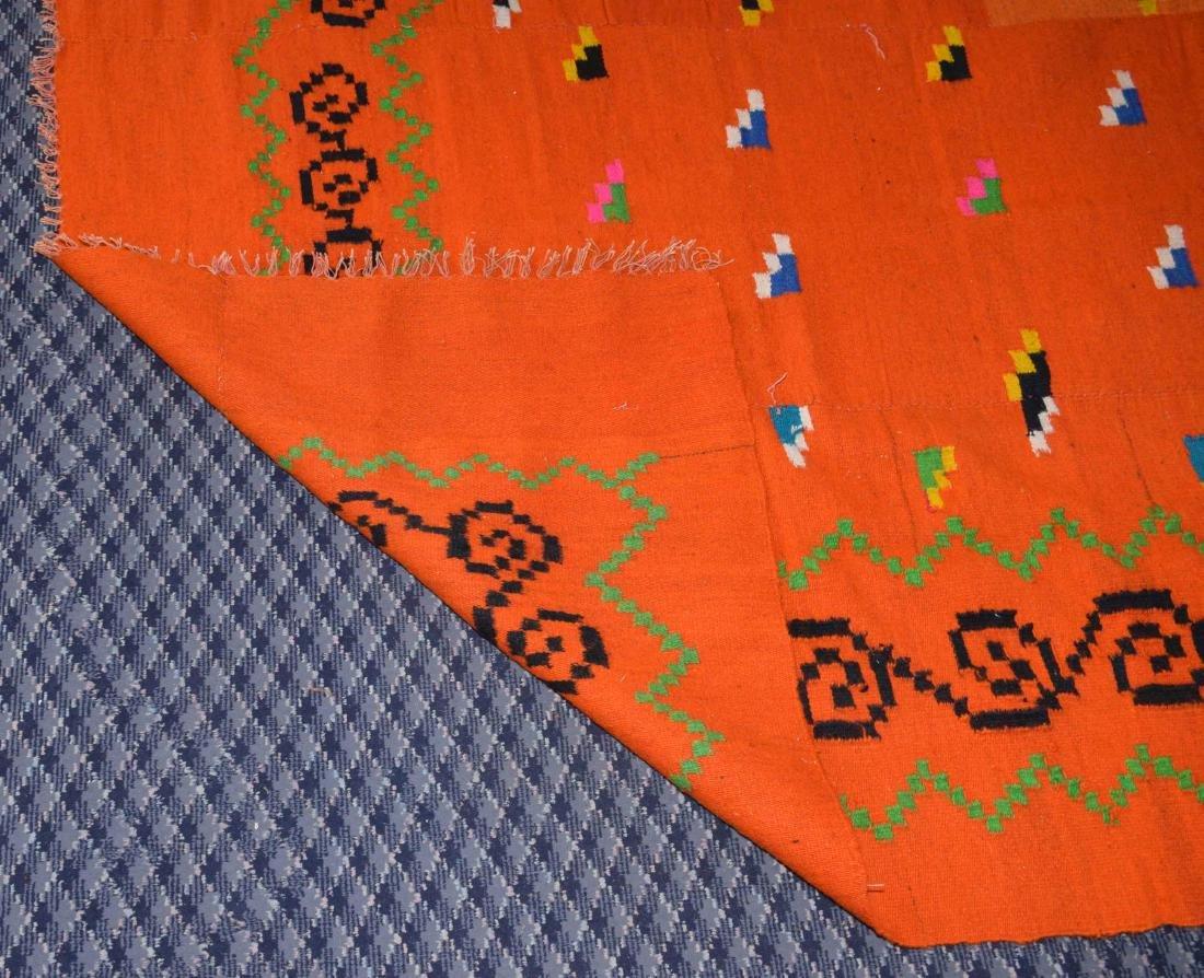 HANDMADE GREEK KILIM RUG, in color orange. 7'8''H x - 4