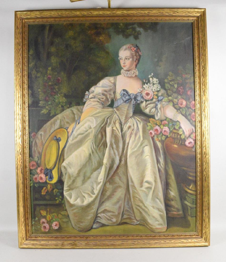 RUTH GILLER OIL ON CANVAS - Oil on canvas of a seated