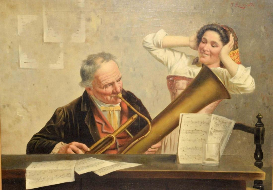 JULES ZERMATI (Italian fl. 1880-1920) The Horn Player,