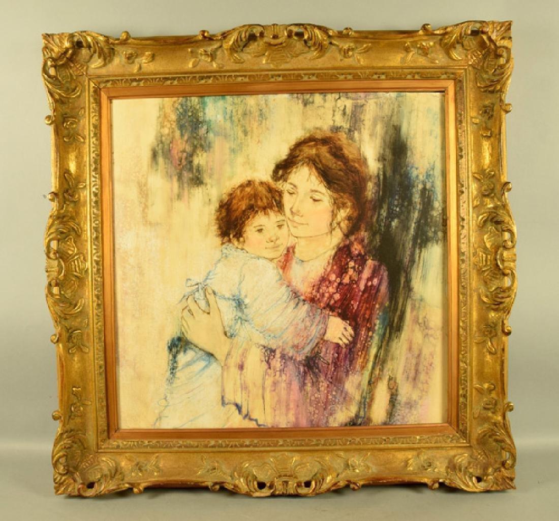 EDNA HIBEL (AMERICAN, 1917-2014) - Woman & child; oil