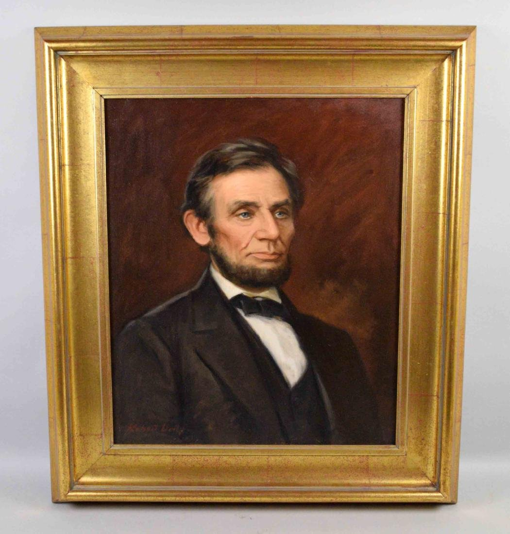ROBERT DALEY, Brookline, PA artist. Portrait of Abraham