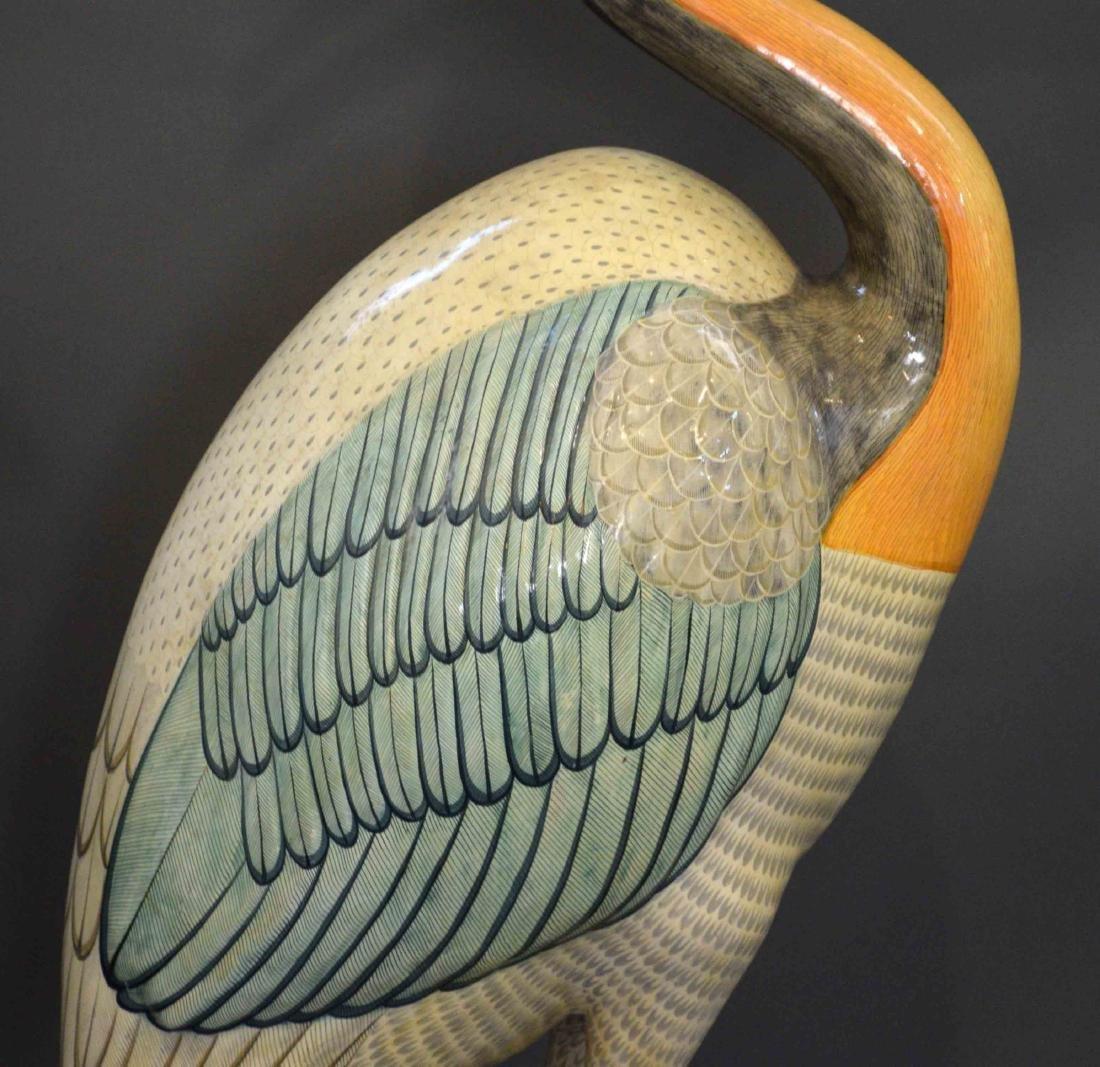 SERGIO BUSTAMANTE, MONUMENTAL BIRD SCULPTURE. Signed on - 3