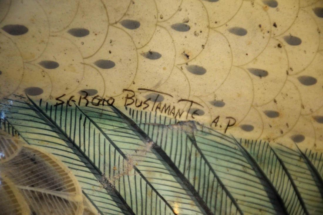 SERGIO BUSTAMANTE, MONUMENTAL BIRD SCULPTURE. Signed on - 7