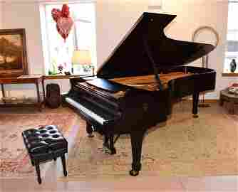 STEINWAY CONCERT GRAND, MODEL D, PIANO WITH PLAYER.