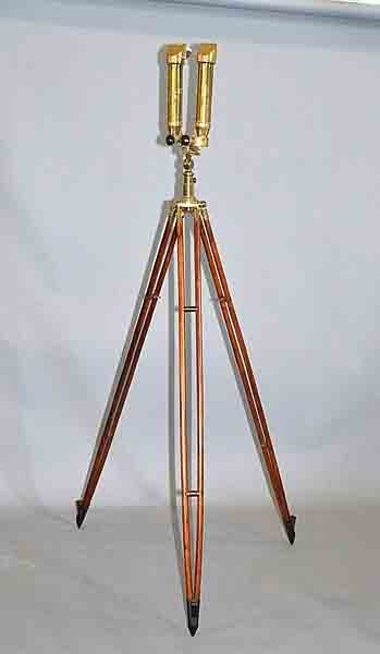 BRASS CARL ZEISS STEREO TELESCOPE WITH MATCHING BRASS