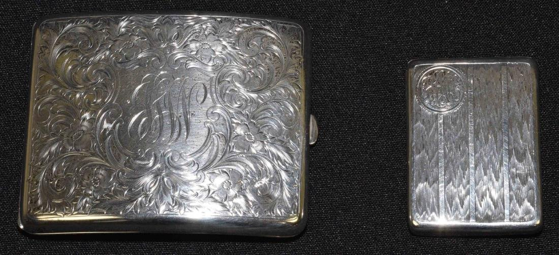 STERLING CIGARETTE CASE AND MATCH CASE. Total weight:
