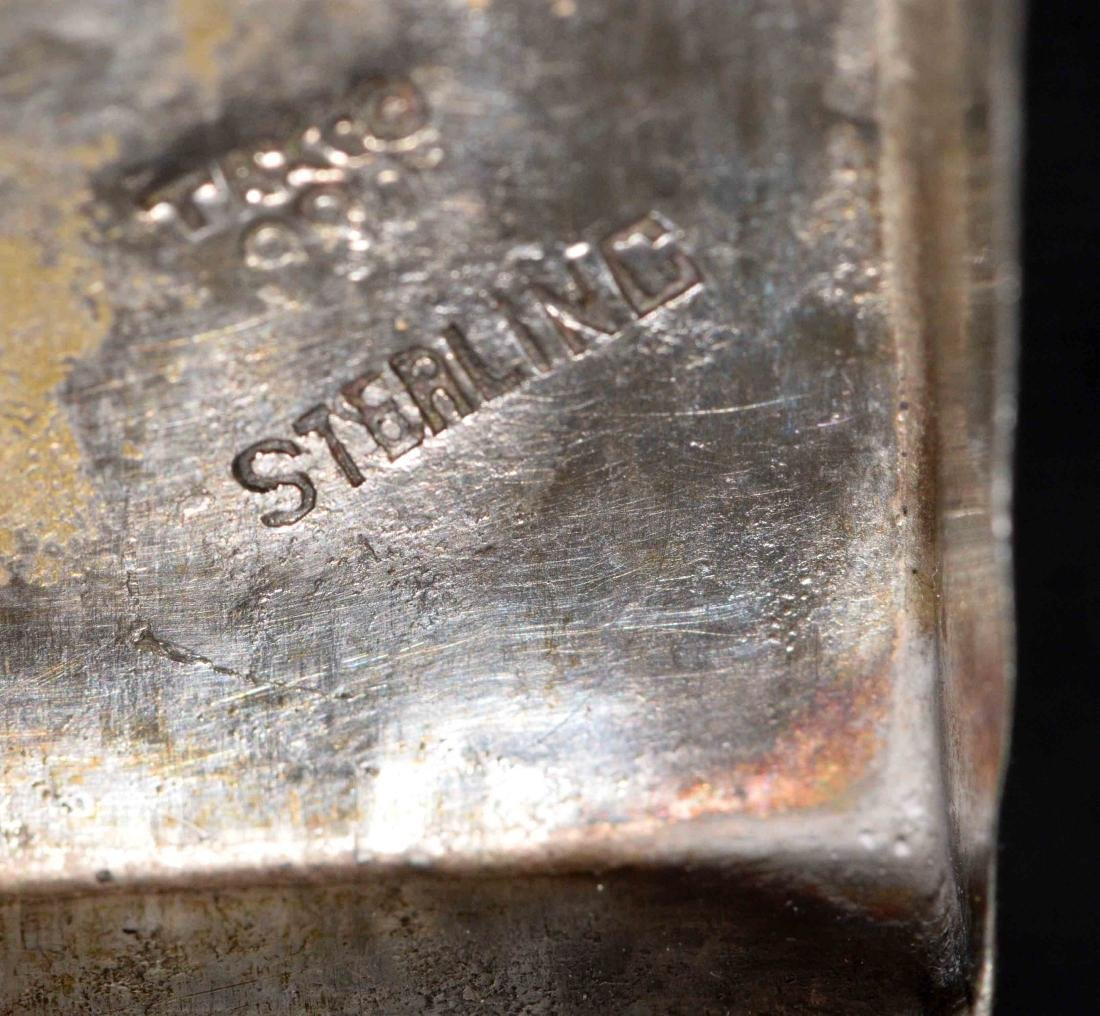COLLECTION OF STERLING including salts, napkin ring, - 7