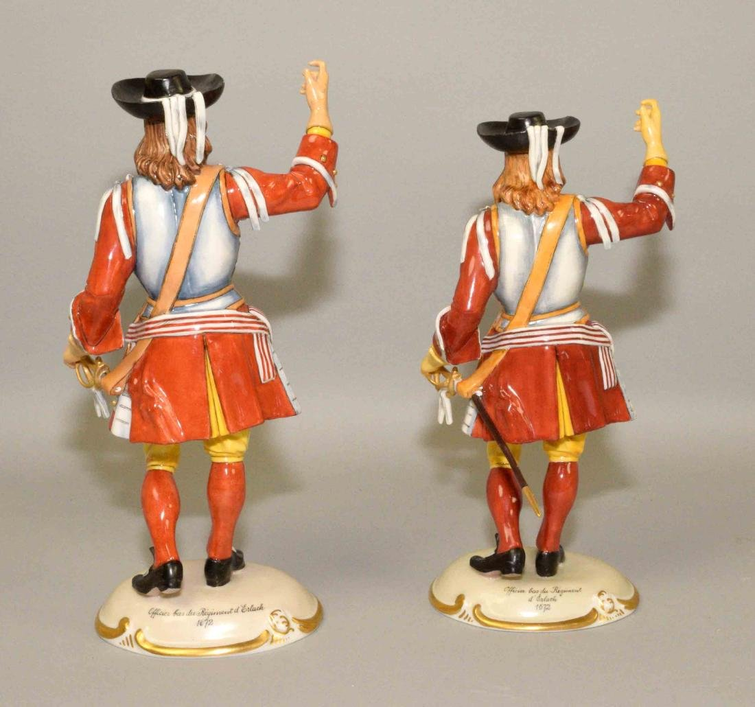 A PAIR OF NYMPHENBURG PORCELAIN CAVALIERS, smaller 9''H - 2