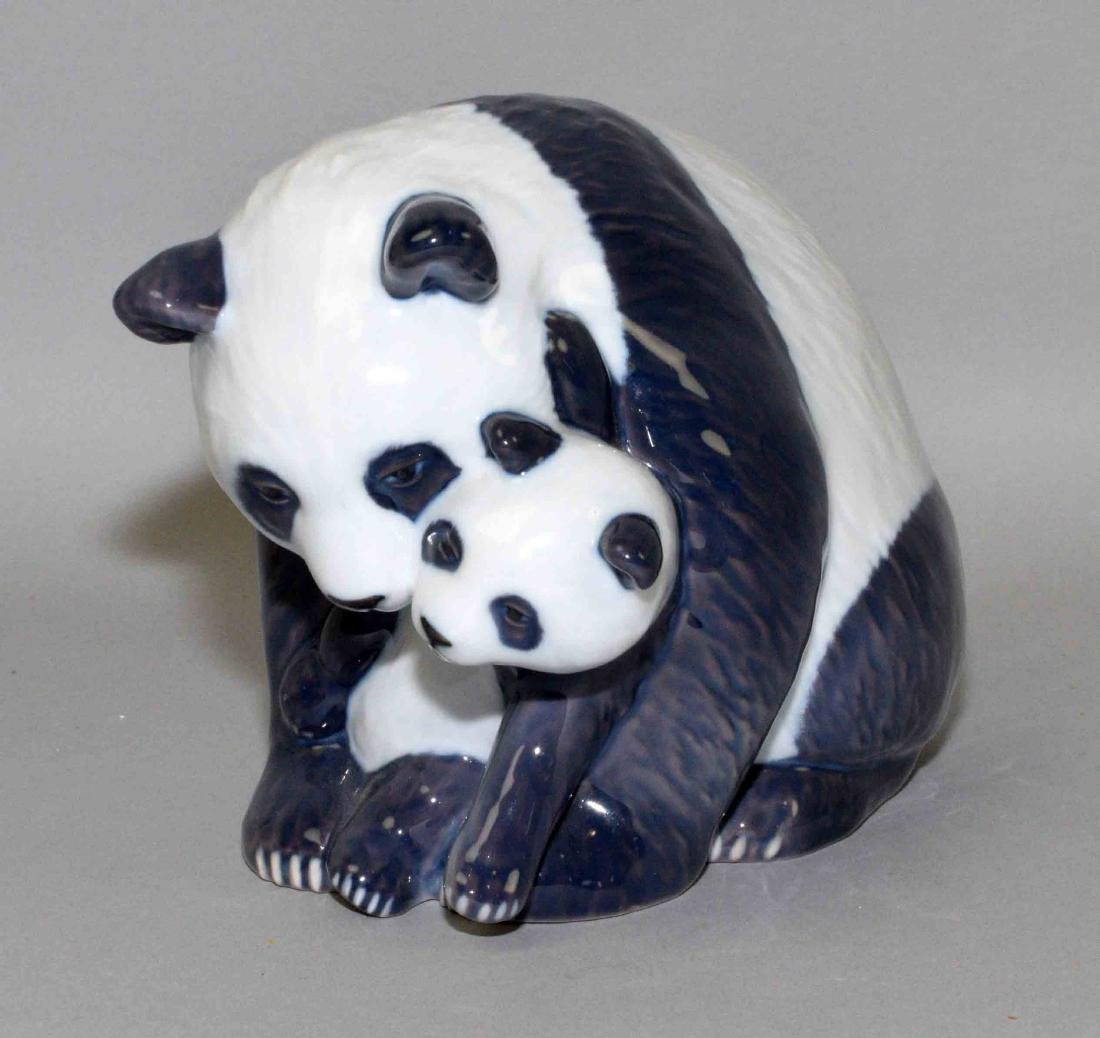 ROYAL COPENHAGEN PANDA BEAR AND CUB, 5''H.