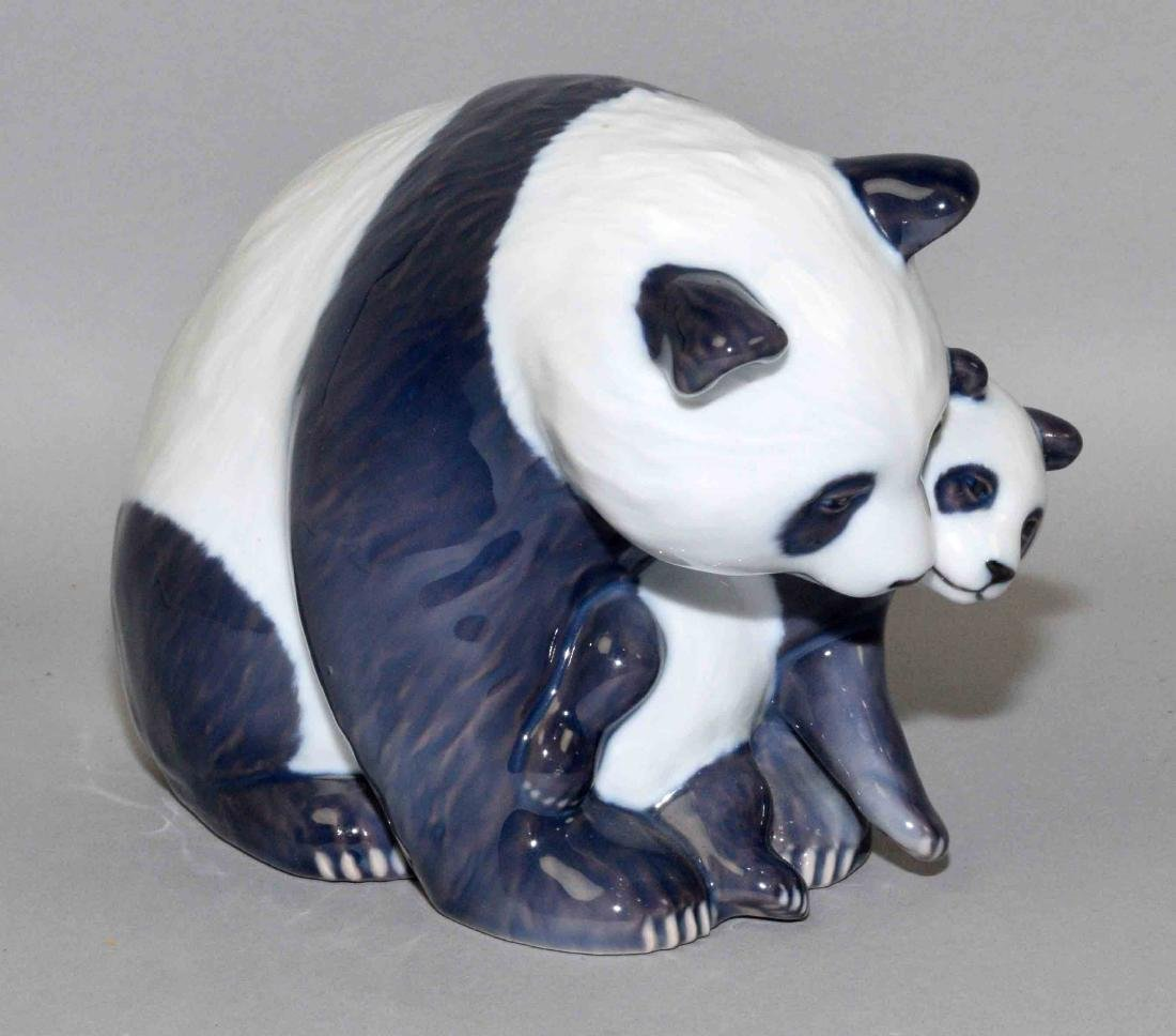 ROYAL COPENHAGEN PANDA BEAR AND CUB, 5''H. - 3