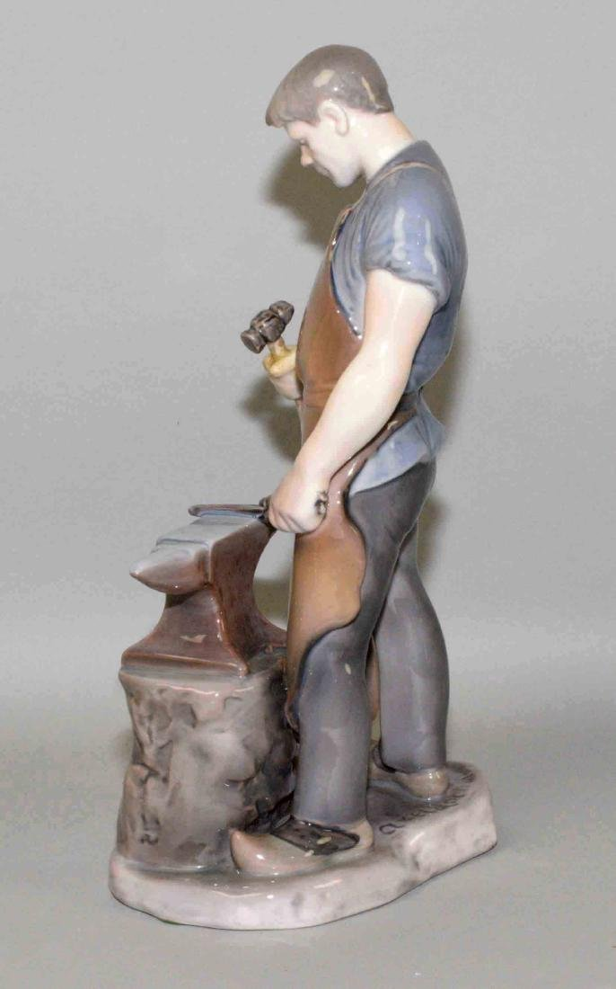 BING AND GRONDAHL BLACKSMITH, ''Axel Locher''. 11.5''H. - 3