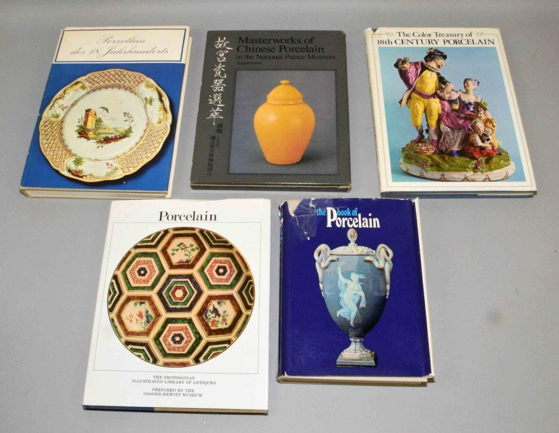 (5) MISC. BOOKS ON PORCELAIN.