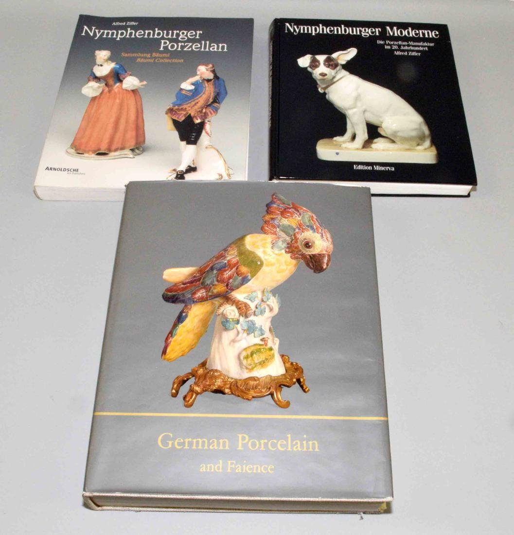 (3) BOOKS ON GERMAN PORCELAIN including Nymphenburg.