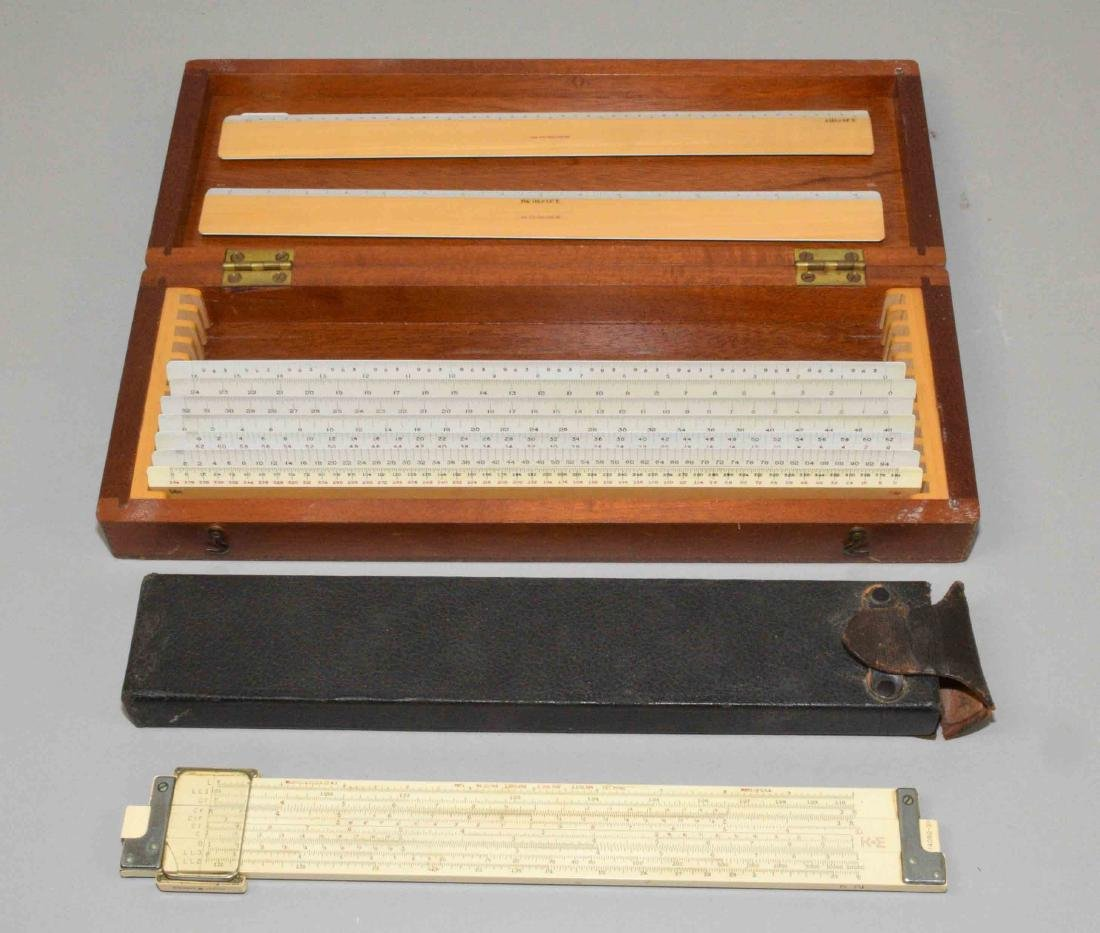 COLLECTION OF MEASURING INSTRUMENTS including slide
