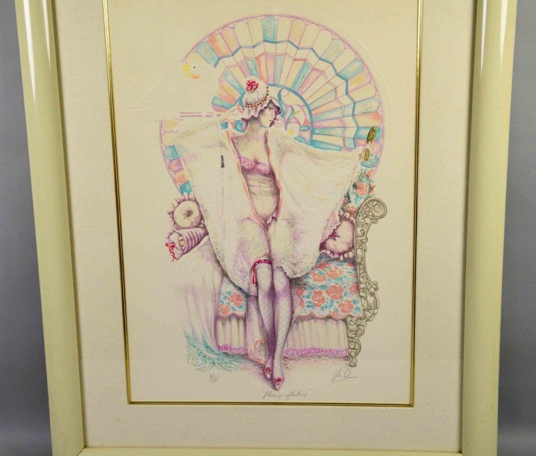 MARY VICKERS, ''Morning Reflections'', serigraph,