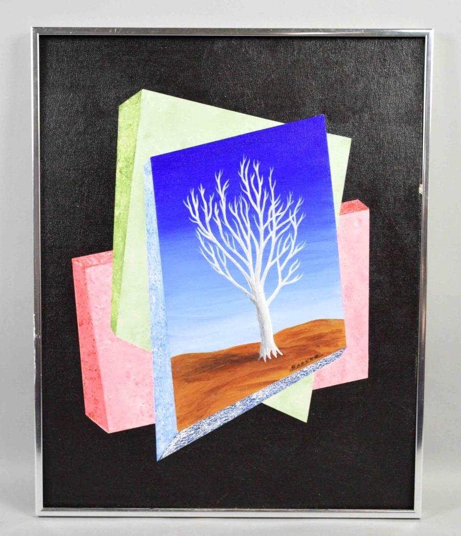 JOHN  SACHKO, oil on board, Naples, FL. 19''H x 15''W.