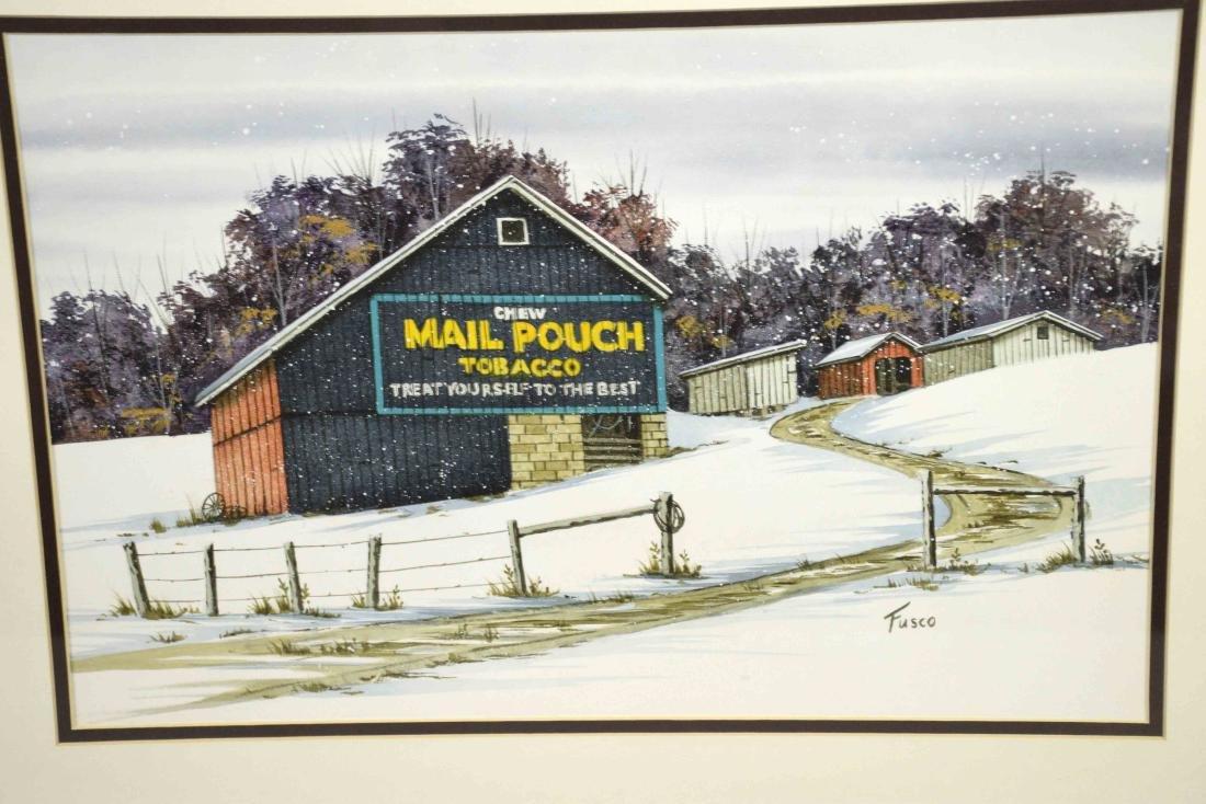 DON FUSCO WATERCOLOR, ''Mail Pouch Tobacco'', 11.5''H x