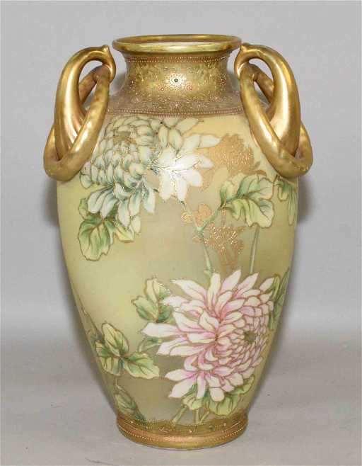 Hand Painted Nippon Vase Condition Small Break On