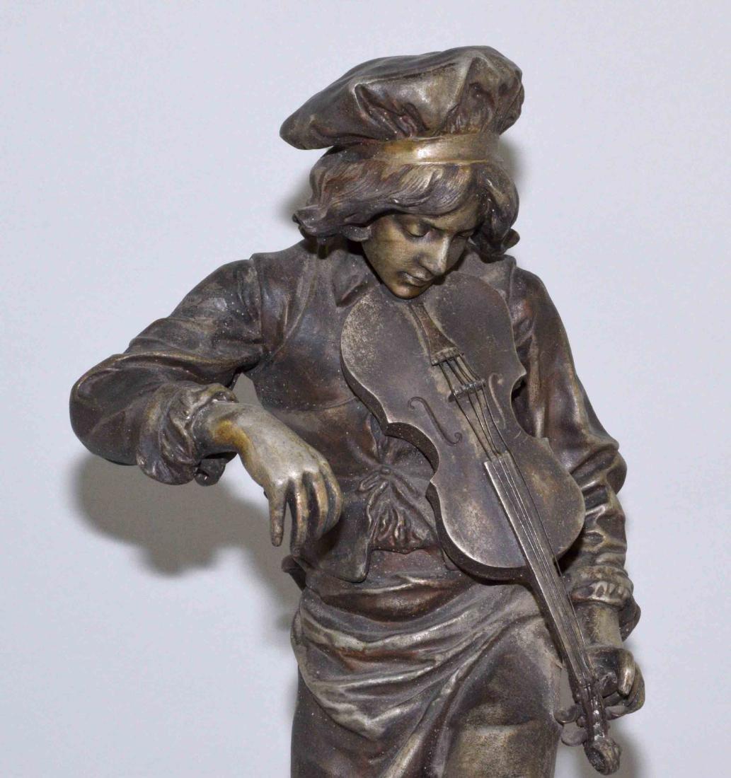 LULLI ENFANT SCULPTURE, Spelter, 20.5''H, The Violin - 2