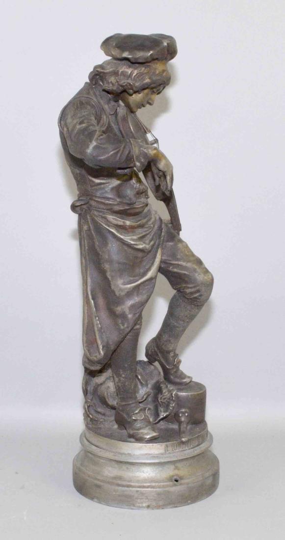 LULLI ENFANT SCULPTURE, Spelter, 20.5''H, The Violin - 5