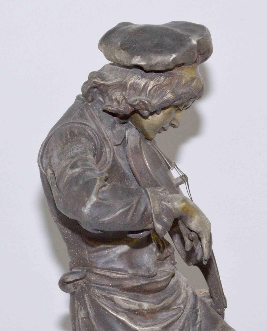 LULLI ENFANT SCULPTURE, Spelter, 20.5''H, The Violin - 6