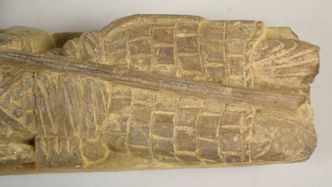 INDIAN GANDHARA CARVED GREY SCHIST STONE. 18.5''H x - 4