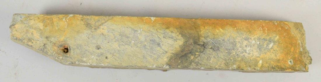 INDIAN GANDHARA CARVED GREY SCHIST STONE. 18.5''H x - 6
