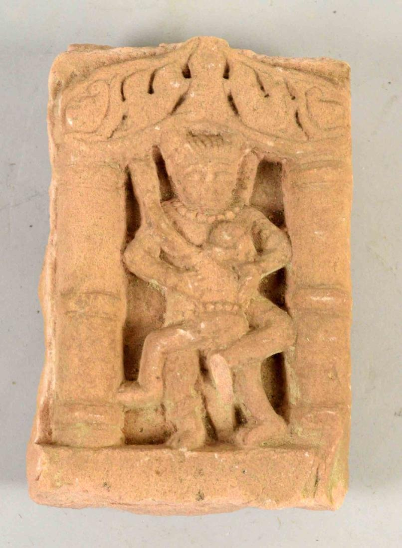 INDIAN HINDU TEMPLE PANEL. 6.5''H x 4''W.