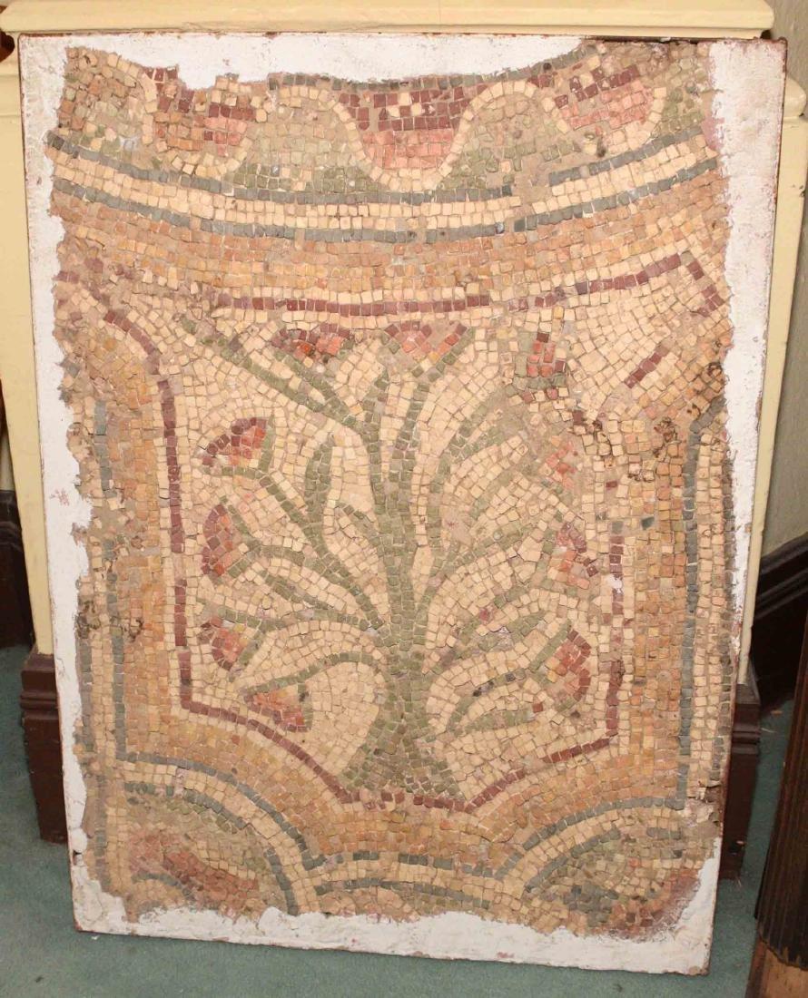 ANTIOCH MOSIAC FLOOR FRAGMENT depicting ''Tree of