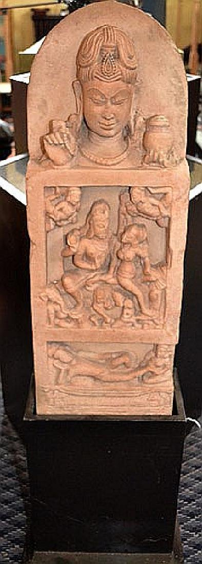 INDIAN HINDU TEMPLE CARVING 12-14TH CENTURY - Mottled