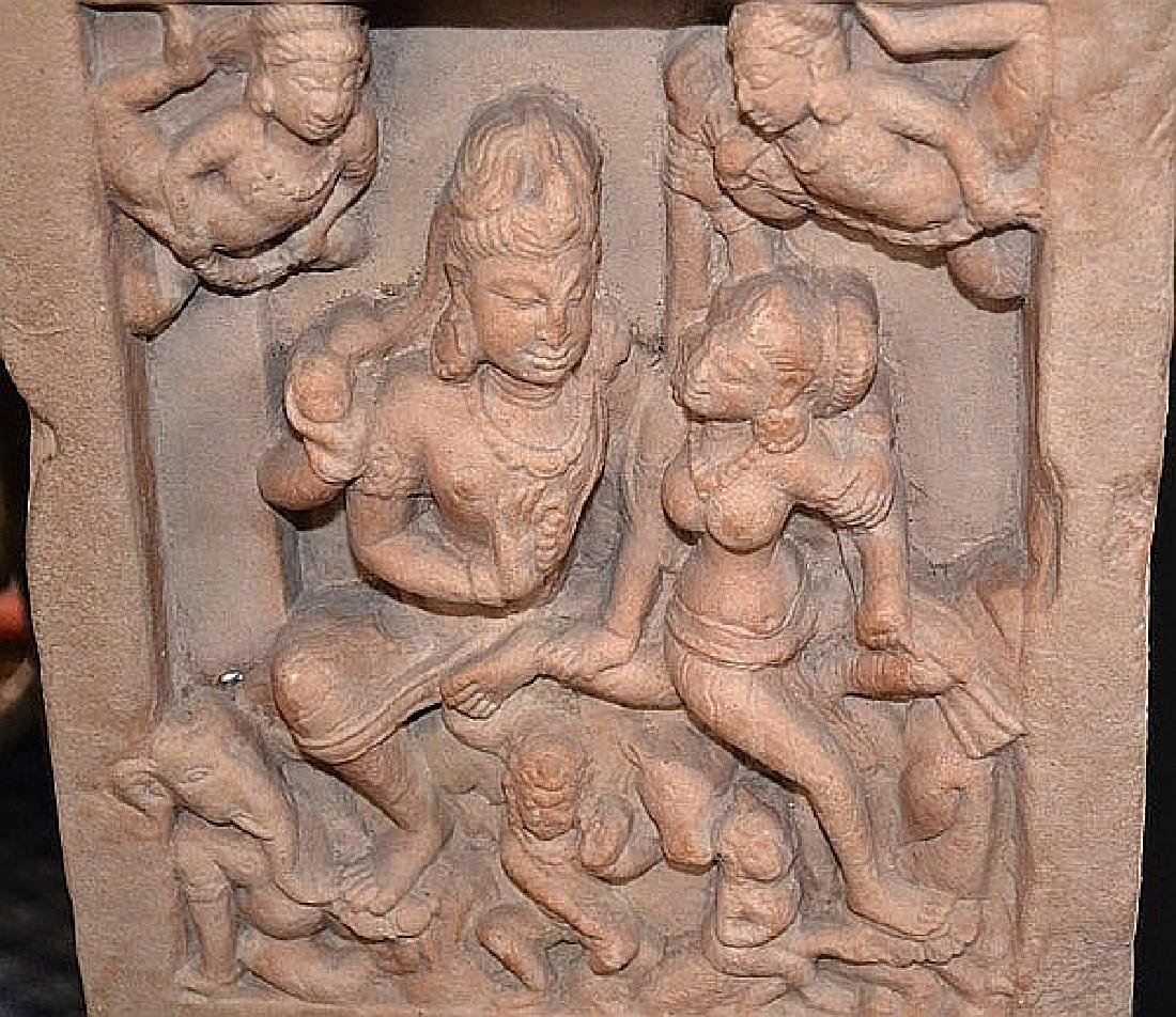 INDIAN HINDU TEMPLE CARVING 12-14TH CENTURY - Mottled - 3