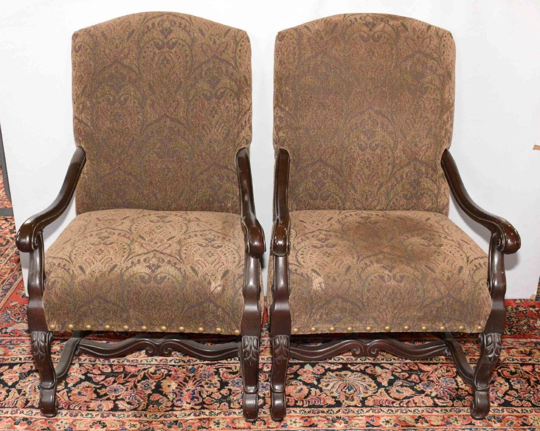PAIR OF ''NEW VINTAGES'' UPHOLSTERED CHAIRS by