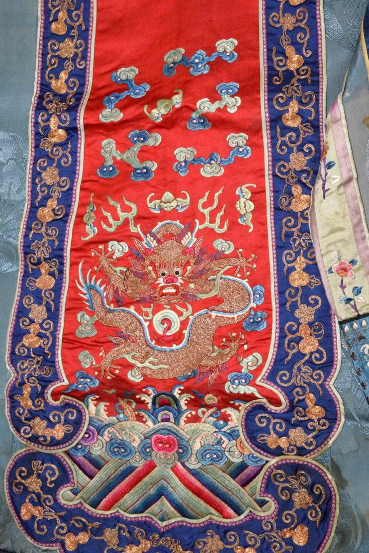 ANTIQUE CHINESE SILK EMBROIDERED KIMONO. - 6