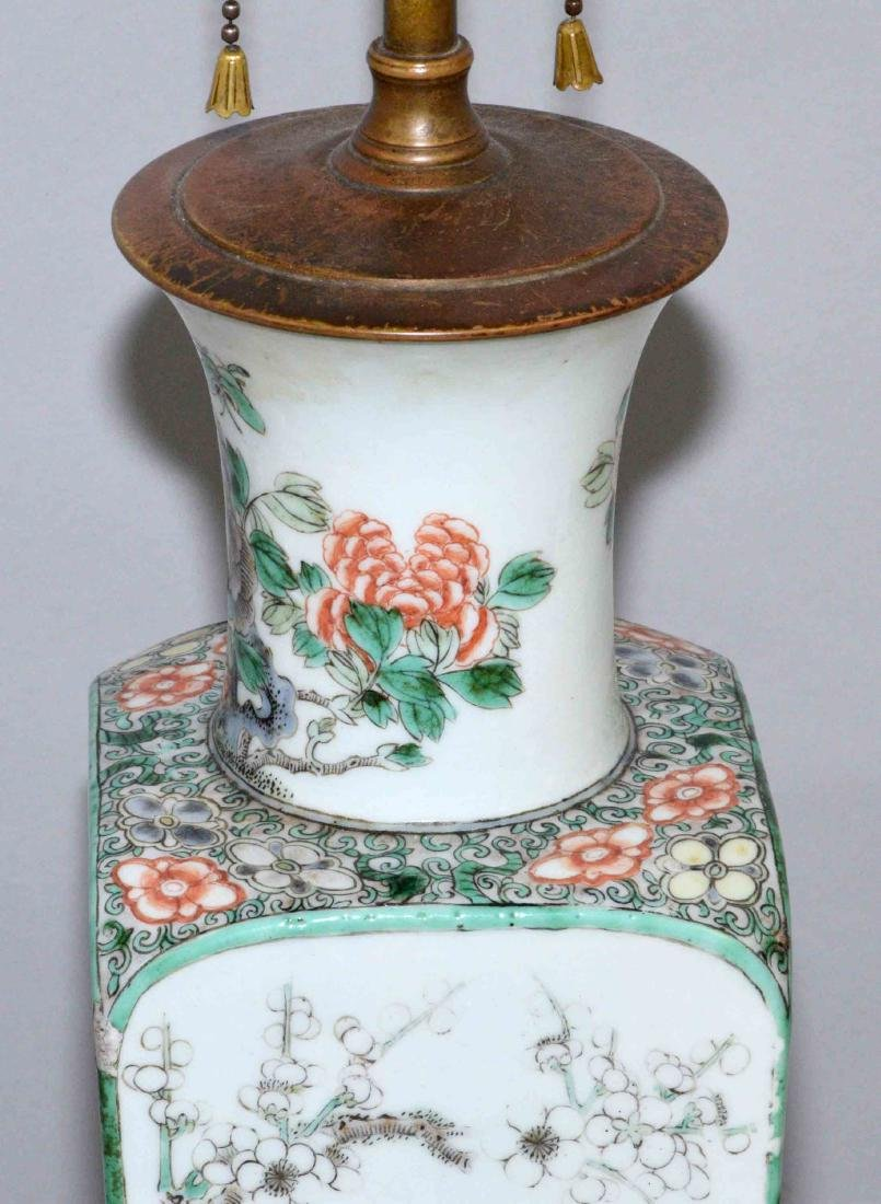 (2) ANTIQUE CHINESE FAMILLE ROSE PORCELAIN LAMPS. (1) - 6