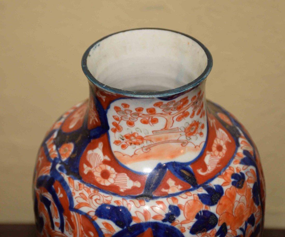 (2) ANTIQUE JAPANESE IMARI VASES, includes square - 3