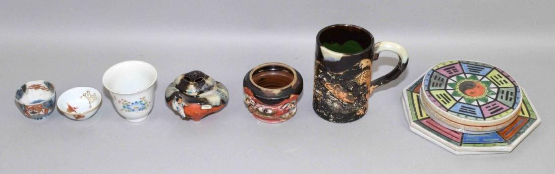 (11) ASST. ANTIQUE JAPANESE PORCELAIN PIECES. Includes
