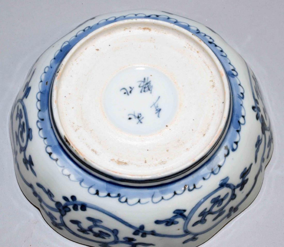 (2) ANTIQUE JAPANESE IMARI W/BLUE & WHITE DISHES. - 10