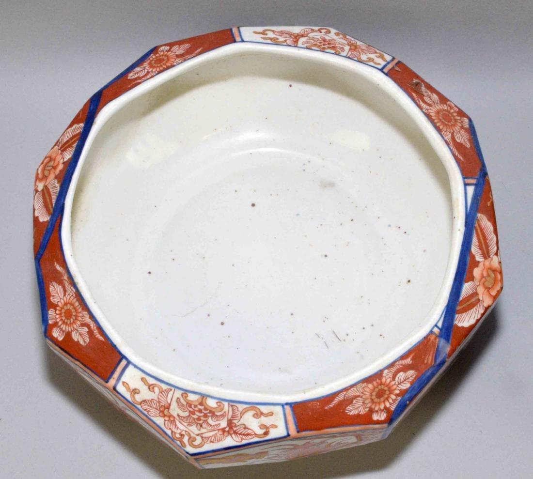(2) ANTIQUE JAPANESE IMARI W/BLUE & WHITE DISHES. - 4