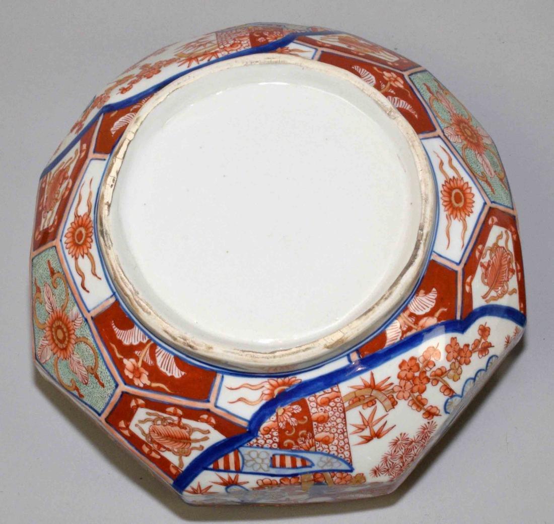 (2) ANTIQUE JAPANESE IMARI W/BLUE & WHITE DISHES. - 6