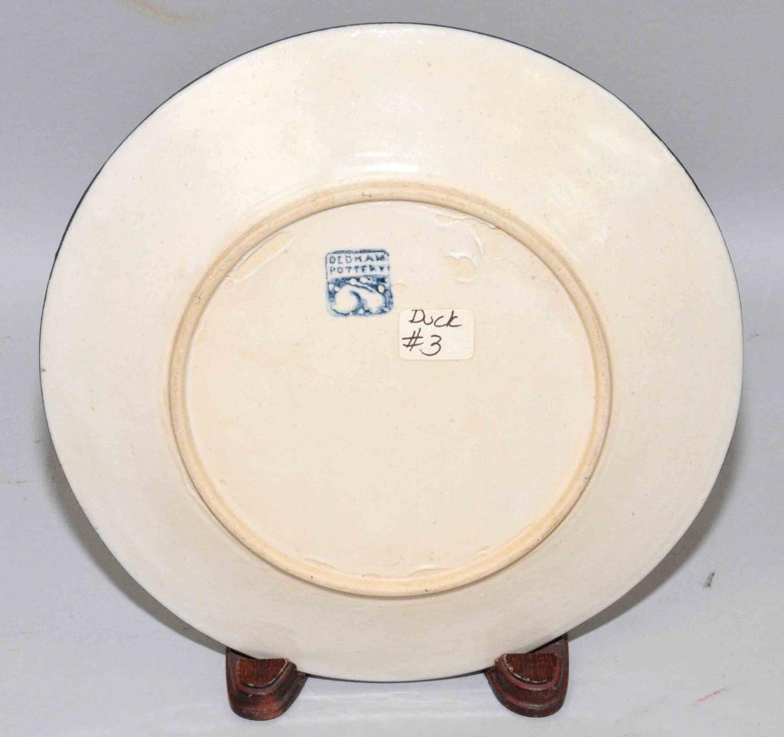 DEDHAM POTTERY PLATE WITH DUCK MOTIF. 8.5'' diameter, - 4