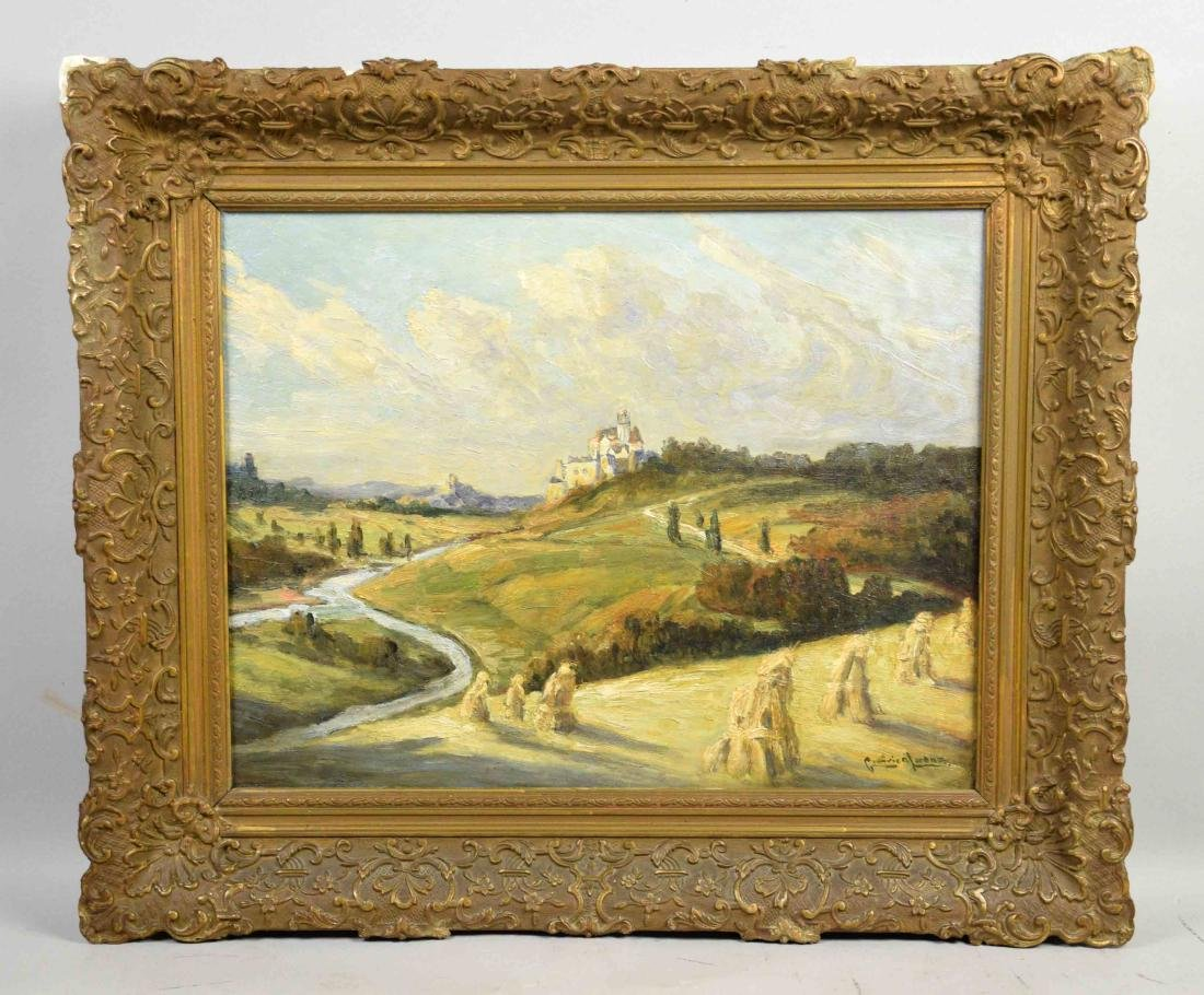 GOTTFRIED LORENZ, (German 1860-1928) scenic landscape.