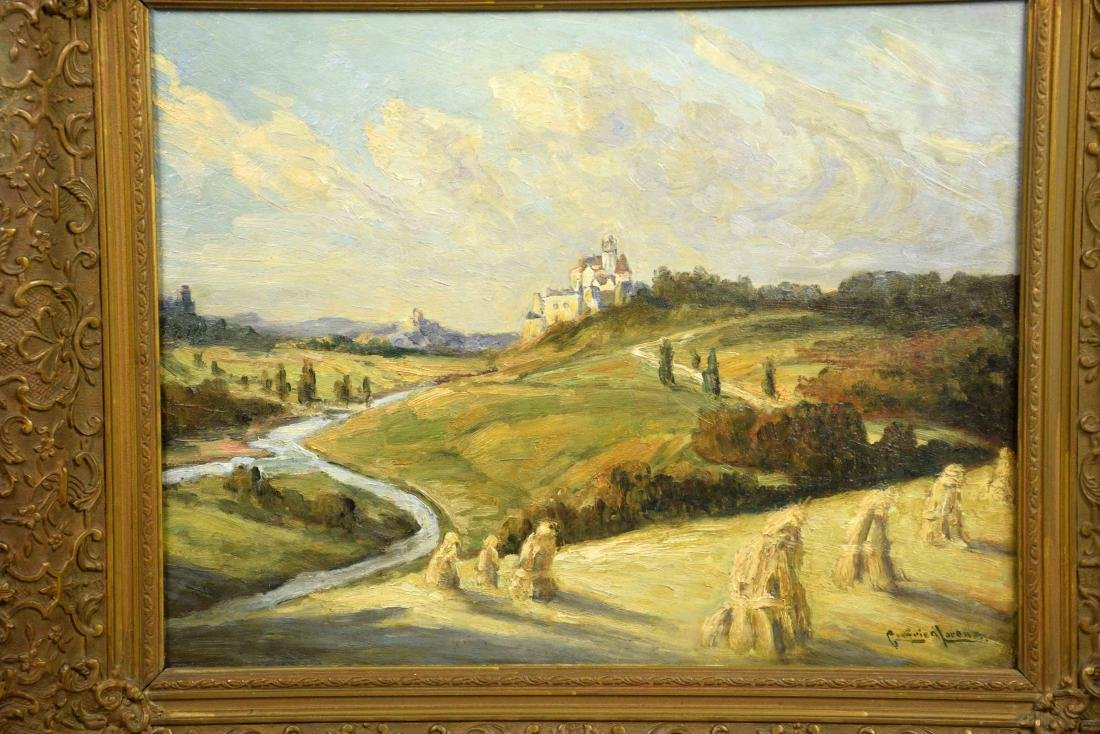 GOTTFRIED LORENZ, (German 1860-1928) scenic landscape. - 2