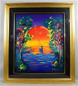 PETER MAX, Serigraph, ''Better World II'', 87 of 350,