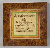 PENNSYLVANIA DUTCH FRAKTUR, dated 1819. Image: 6.5''H x