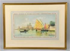 CHARLES PAUL GRUPPE (America 1860-1940). Harbor scene