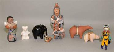 COLLECTION OF NATIVE AMERICAN ART FIGURINES 8