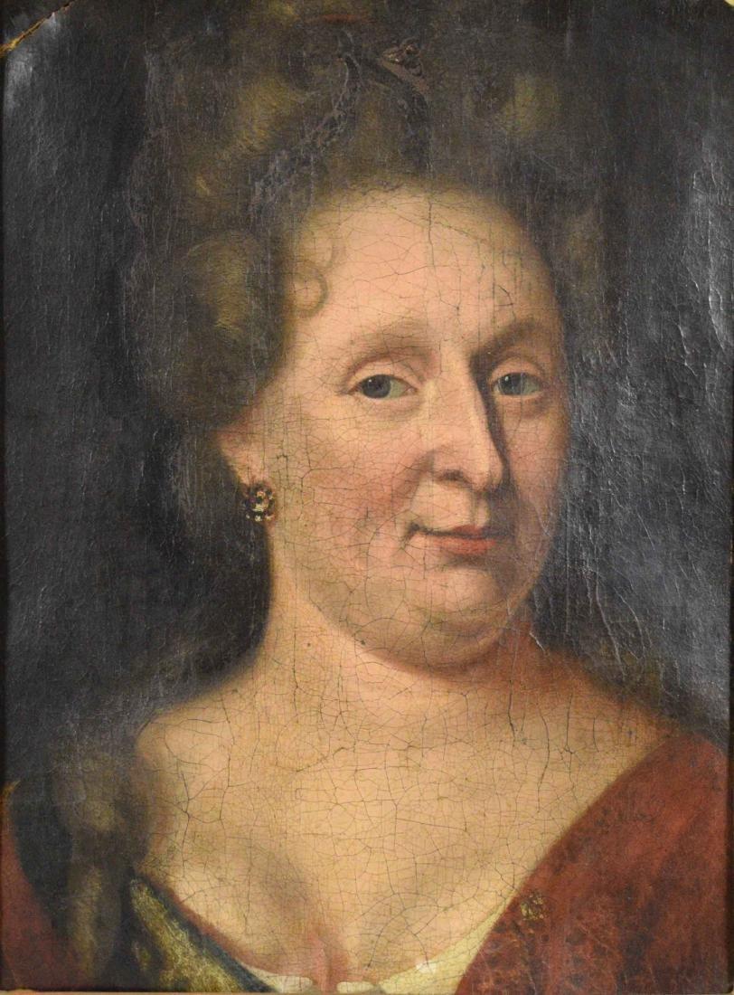 ENGLISH SCHOOL (18TH CENTURY). Portrait of a Lady. Oil