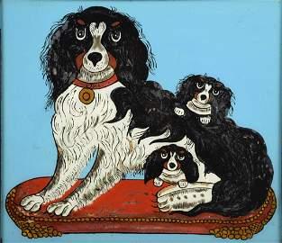 ARTIST UNKNOWN (20TH CENTURY). Spaniel with Puppies.